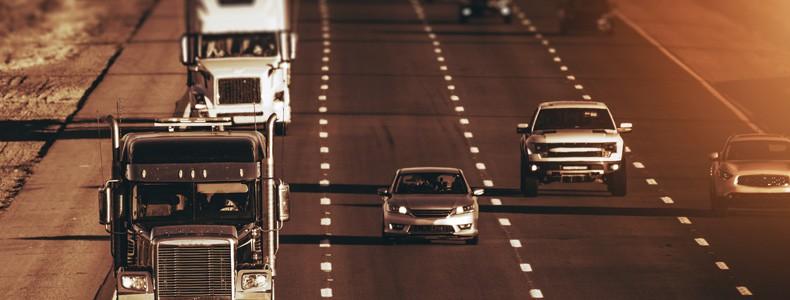 Speeding Highway Traffic