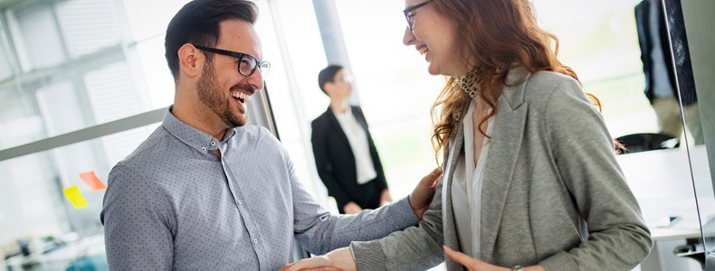 Lawyer shaking hands, finishing up meeting
